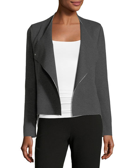 Double-Snap Blazer Jacket
