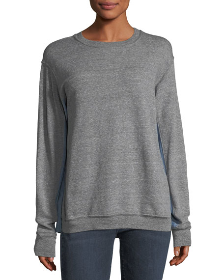 Current/Elliott The Duo Crewneck Cotton Sweatshirt