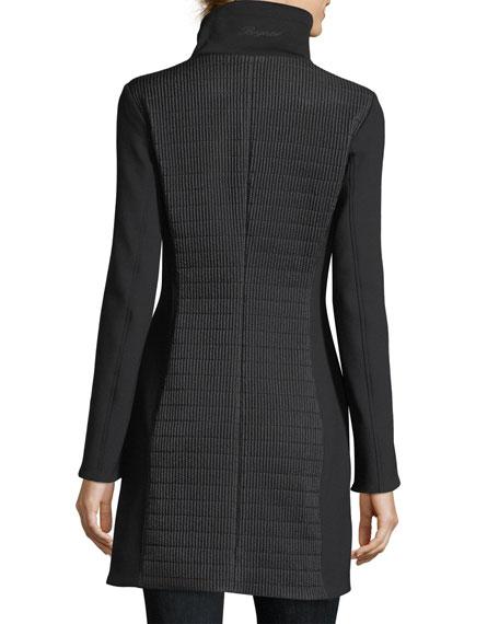 Tamara Cigarette-Quilted Zip-Front Short Coat