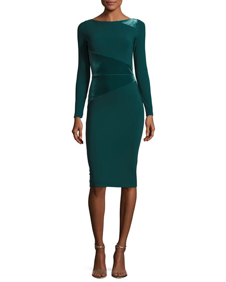 Chiara Boni La Petite Robe Miska Long-Sleeve Sheath