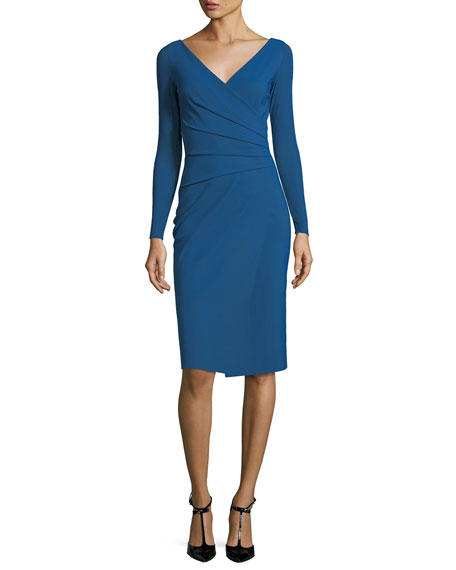 Chiara Boni La Petite Robe Damaris Long-Sleeve Faux-Wrap