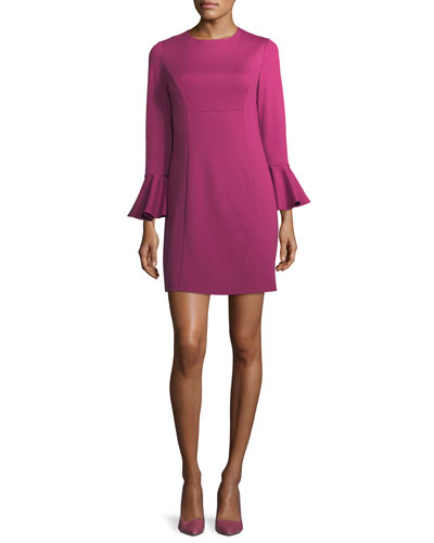 Panache Jewel-Neck Straight Day Dress