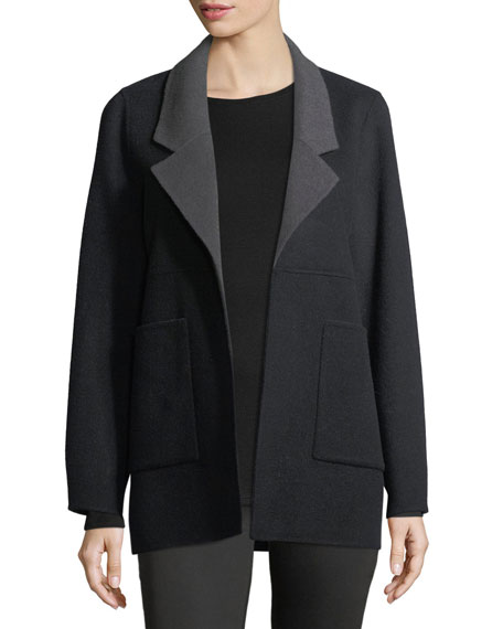 Eileen Fisher Double-Faced Brushed Wool Jacket