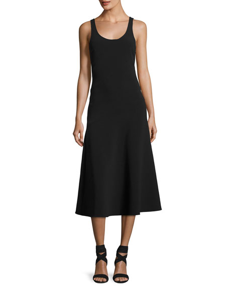 Elizabeth and James Hunter Scoop-Neck Sleeveless Ponte Midi