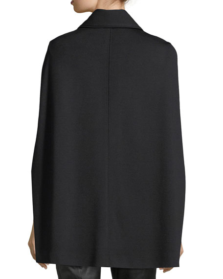 Milano Knit Collared Cape