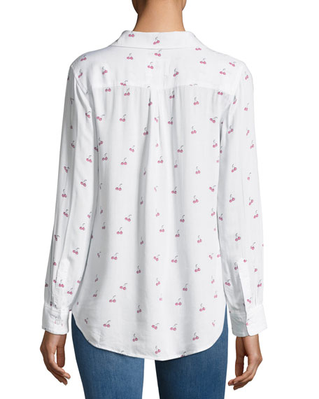 Rocsi Cherry-Print Button-Front Shirt