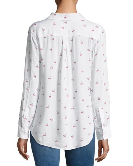 Rocsi Cherry-Print Button-Front Shirt