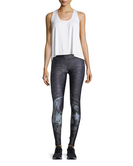 Crystal Skull Tall-Band Performance Leggings