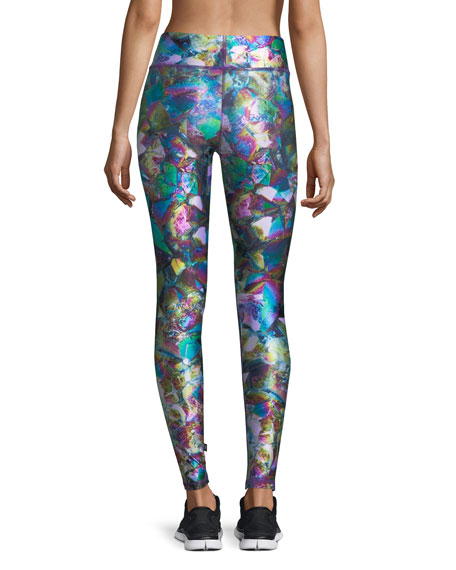 Metallic Crystal Tall Band Performance Leggings