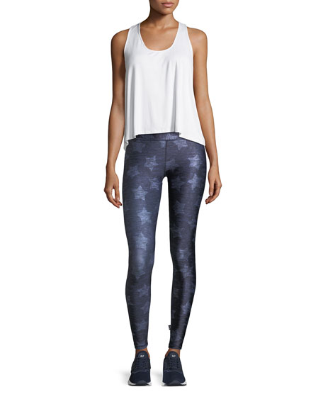 Heathered Stars Tall Band Performance Leggings