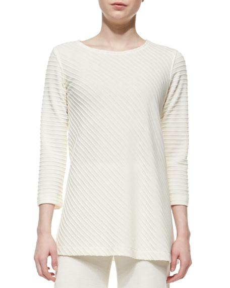 Caroline Rose Ottoman Knit 3/4-Sleeve Tunic, Plus Size