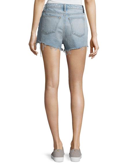 Bite Light-Wash High-Rise Cutoff Denim Shorts