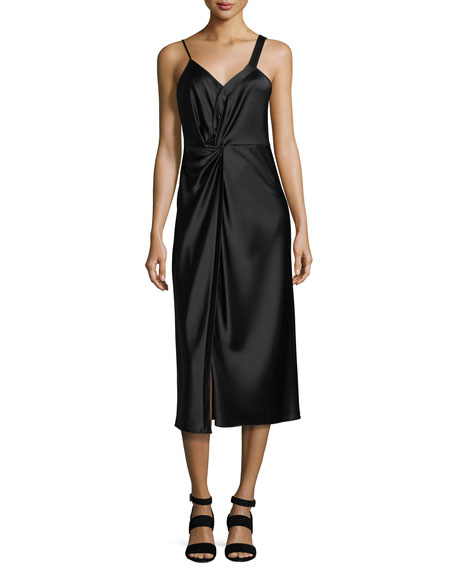 T by Alexander Wang Heavy Draped Satin Sleeveless