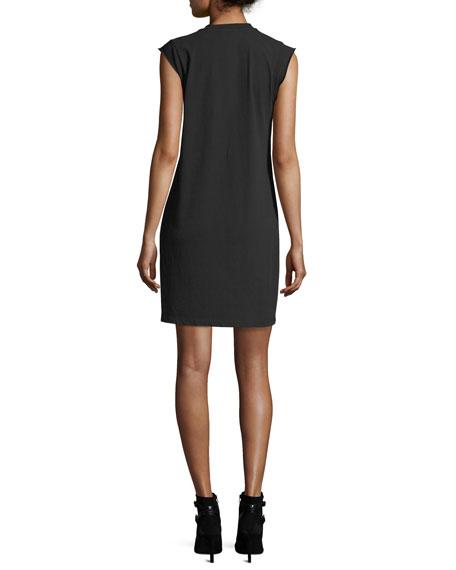 Crewneck High-Twist Jersey Tee Dress