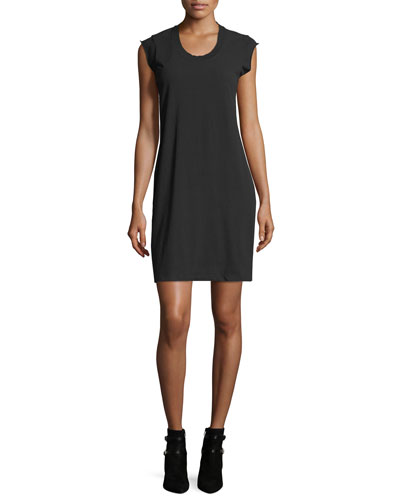 Crewneck High-Twist Jersey Tee Dress