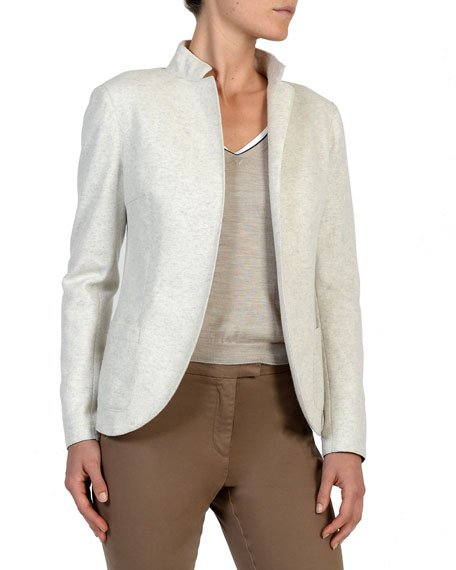 Eleventy Relaxed Stretch-Wool Blazer