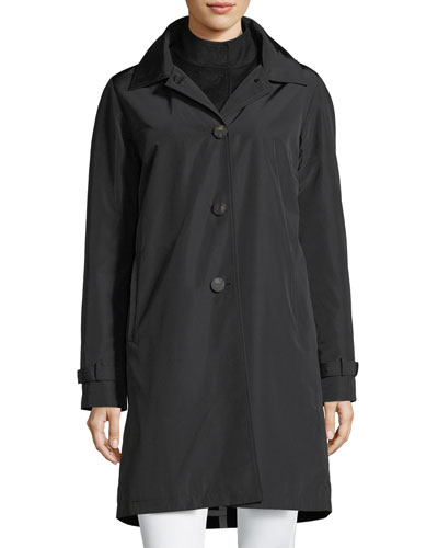 3-in-1 Button-Front Rain Coat