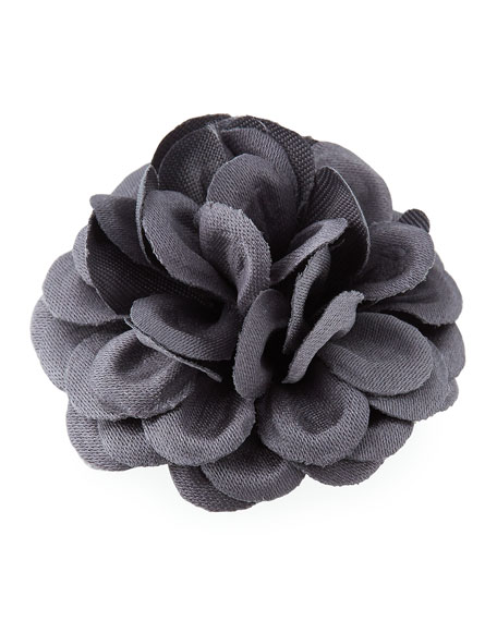 hook + Albert Satin Dahlia Flower Lapel Pin