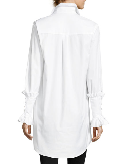 Boyfriend Tuxedo Chemise Poplin Shirt