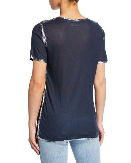 Tino Foil V-Neck Short-Sleeve Modal Tee