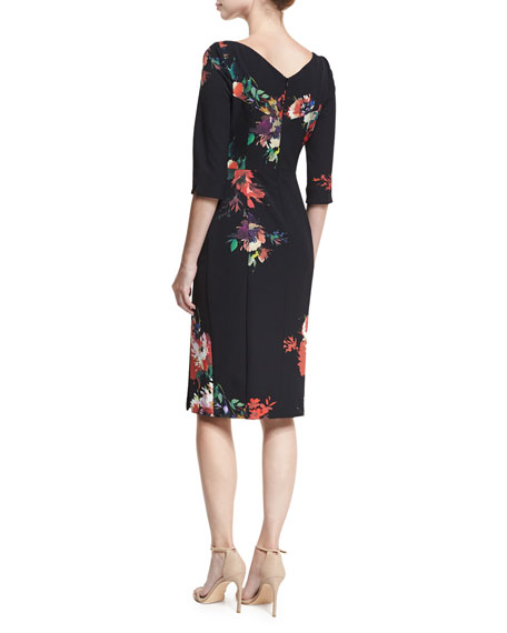 Prism Floral-Printed V-Neck Sheath Dress