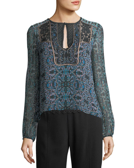 Nanette Lepore Bella Printed Silk Blouse and Matching