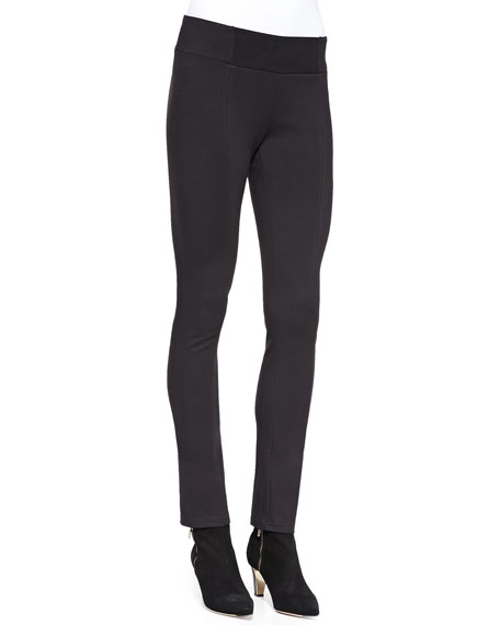 Heavyweight Rayon Knit Skinny Pants, Plus Size