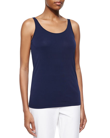Eileen Fisher Scoop-Neck Stretch Silk Jersey Cami