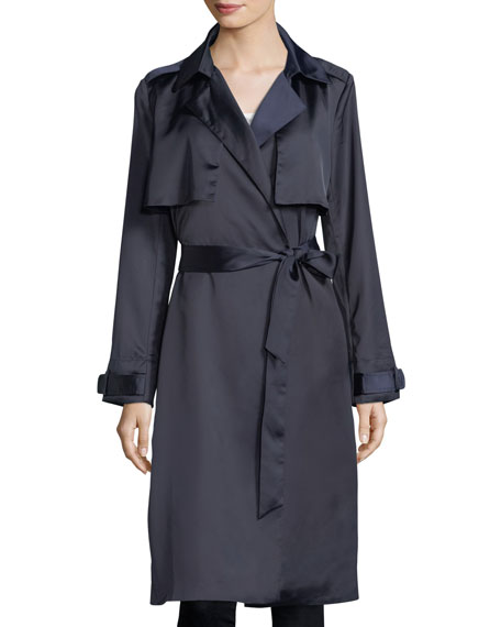 Dolce Cabo Sateen Belted Trench Coat