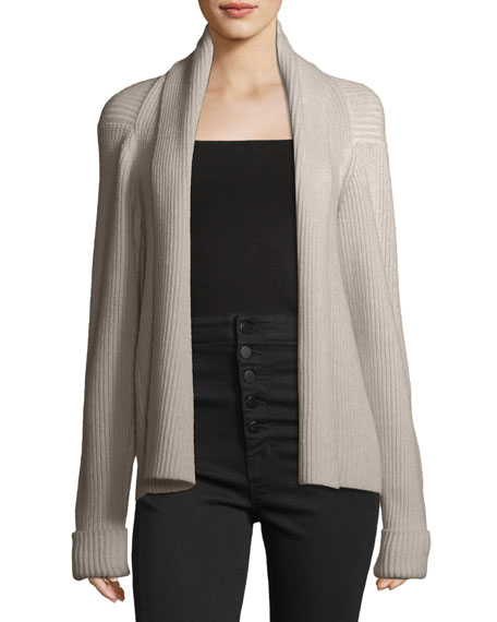 3.1 Phillip Lim Long-Sleeve Draped Wool Rib-Knit Sweater