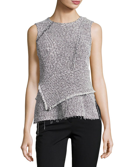 3.1 Phillip Lim Sleeveless Tweed Wrap Top