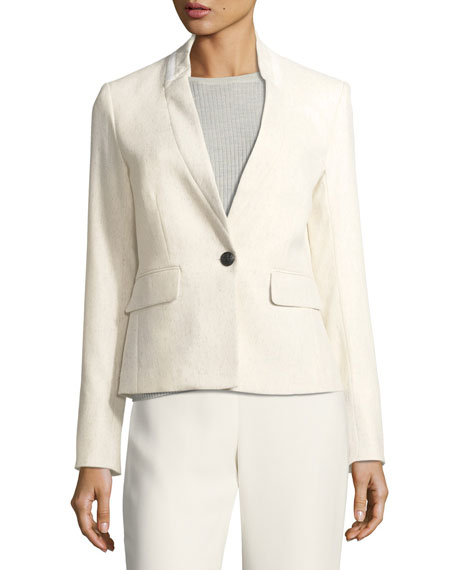 Veronica Beard Tate Upcollar One-Button Blazer