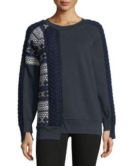 Cable and Fair Isle Sweatshirt