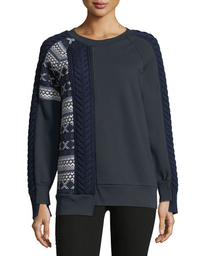 Cable and Fair Isle Sweatshirt