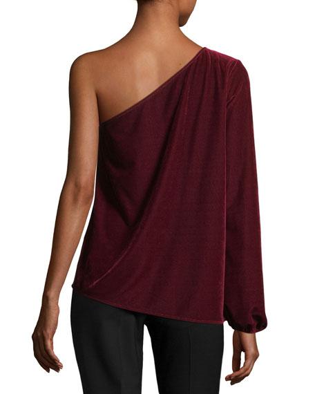 One-Shoulder Velvet Top