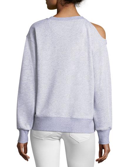 Oversized Cold-Shoulder Sweatshirt