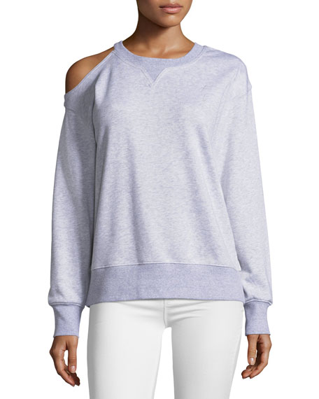 Oversized Cold-Shoulder Sweatshirt