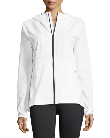 Outrun The Storm Zip-Front Hooded Performance Jacket