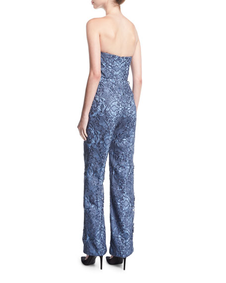 Strapless Retro Lace Jumpsuit