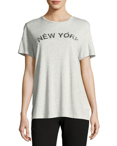 Delaney New York Crewneck Short-Sleeve Top