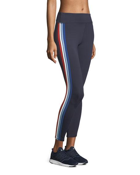 Multicolor Mid-Rise Side-Stripe Performance Leggings
