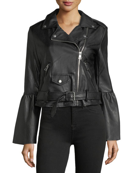 Bagatelle Vegan Leather Biker Jacket