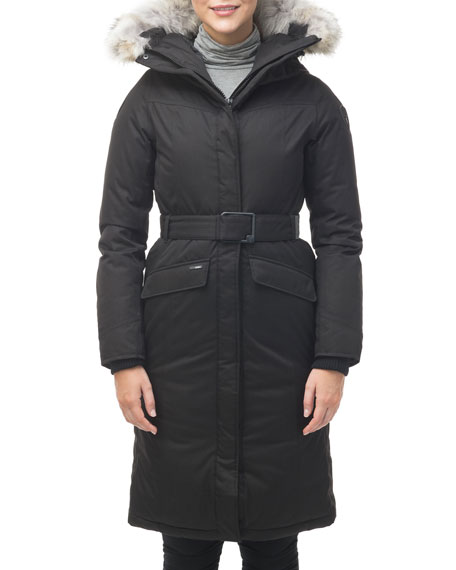 Nobis Morgan Fur-Trim Parka Coat