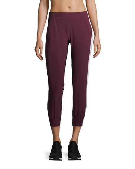 Norma Kamali Side-Stripe Jogger Pants