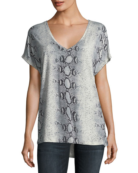 Majestic Paris for Neiman Marcus V-Neck Short-Sleeve