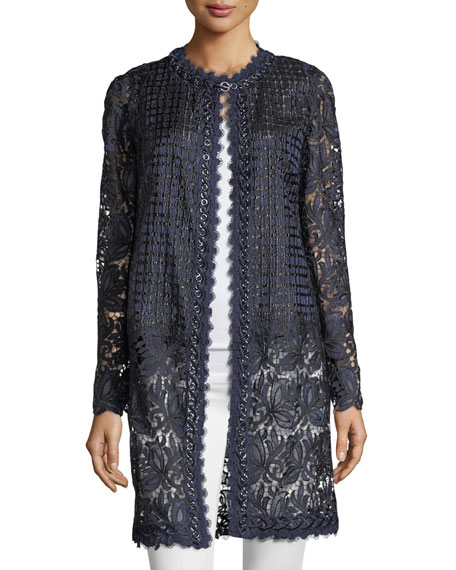 Jaya Lace-Mesh Coat