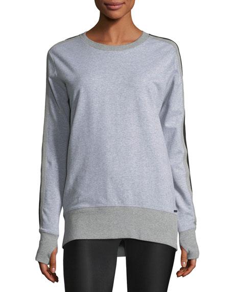 Blanc Noir Social Heathered Sweatshirt w/ Mesh