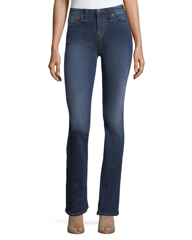 327086da7f9 True Religion Becca Mid-Rise Boot-Cut Jeans