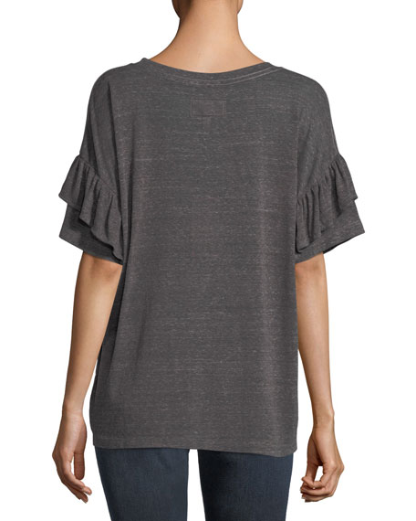 Ruffle Roadie Crewneck T-Shirt