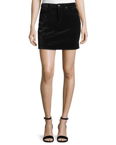 Dive Velvet Mini Skirt